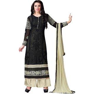 Style Mania Forever Black Color Pure Faux Georgette Salwar Kameez SMSTRIR15005 SMSTRIR15005