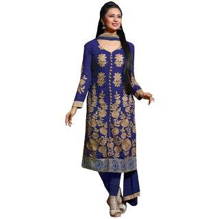 Style Mania Sizzling Blue Coloured Georgette Lehenga Choli SMSTRIZ12008 SMSTRIZ12008