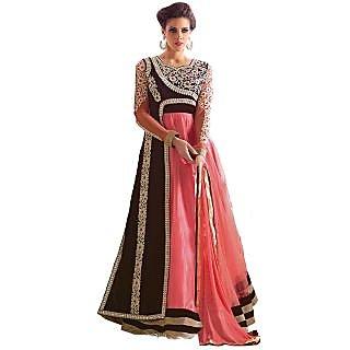Style Mania Divine Multicolour Pure Velvet Anarkali Salwar Kameez SMSTHAN1005 SMSTHAN1005