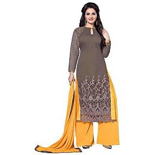 Style Mania Fashionable Brown Georgette Salwar Kameez SMSTHI9004 SMSTHI9004