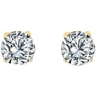 Naina Enterprises Acrylic Gold Plating American diamonds Studded Gold Coloured Earrings
