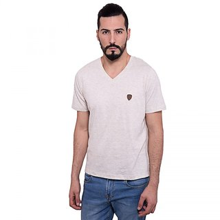DAPPLE GREY Mens Casual Wear Simple V neck Tshirt
