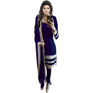Style Mania blue Colored Georgette Embroidered Salwar Suit SMSTLODB2