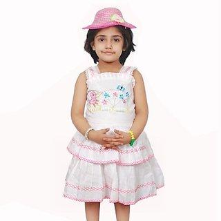 Girls A-line Pink Dress