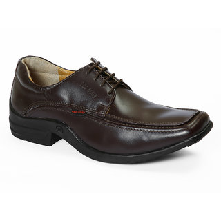 Red Chief Cherry Brown Men Derby Formal Leather Shoes (RC1267 170)