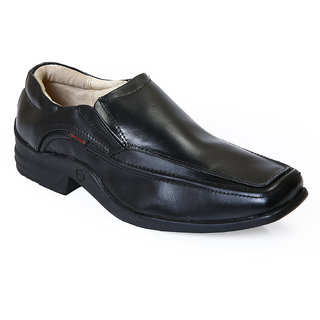 Red Chief Black Men Slip On   Formal Leather Shoes (RC1270 001)