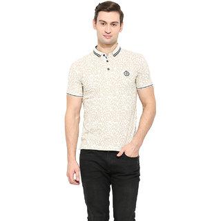 Duke Duke Stardust Cream Cotton Blend T-Shirt For Men