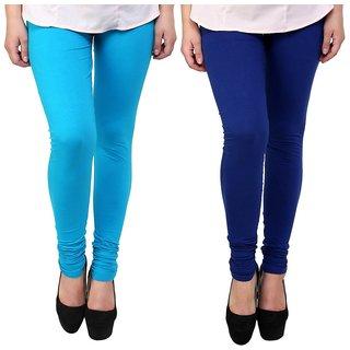 e6b4e1ee91 Buy Legemat Blue and sky Blue Leggings For Girls Pack of 2 Online ...