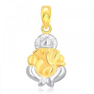 Shree Ganesha Gold and Rhodium Plated Pendant CJ1001PG