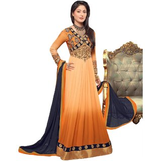 Style Mania Multi Colored Georgette Embroidered Salwar Suit SMSTHEZ42010