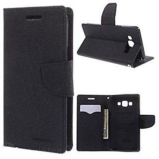 New Mercury Goospery Fancy Diary Wallet Flip Case Back Cover for Mi4  (Black)