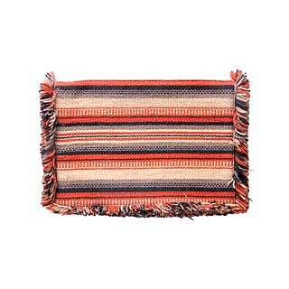 Diwaah Hand Crafted Multi Embroidered Flap Clutch DWH000000410
