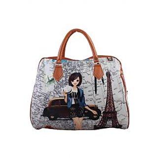 Raas Bazaar Printed Duffle Bag Classy