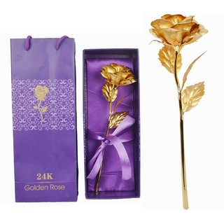 Rabbit Shadow Fax Golden Foil Rose Gift Set