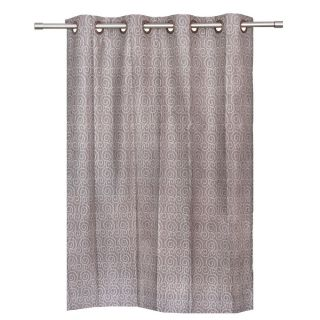 BE Grey Jacquard Abstract Design Window Curtain
