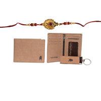 Mohit Rakhi Gift Set Combo Of Rakhi, Wallet, Cardholder