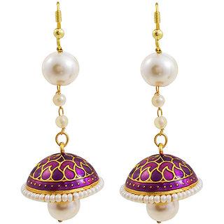 Trendy Meenakari Pearl String Tokri Jhumki 1