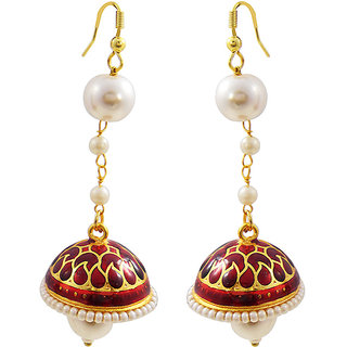 Trendy Meenakari Pearl String Tokri Jhumki 2