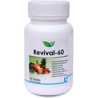 Biotrex Revival 60 Multivitamins and Minerals, Keeps you active throughout the day (60 Tablets)