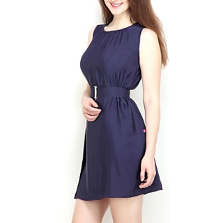 Womens Sheath Blue Dress