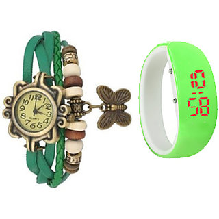 Wedding party watch combo for Girls/women by Brandedking(Green)