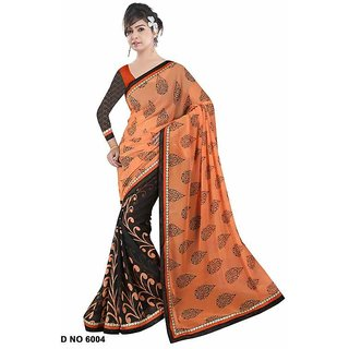 Fancy Multicolor Silk Printed Saree With Blouse