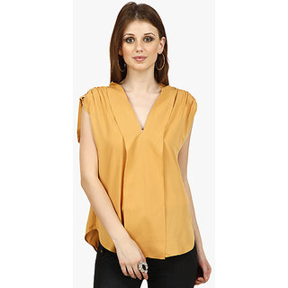 Camel Solid Blouse