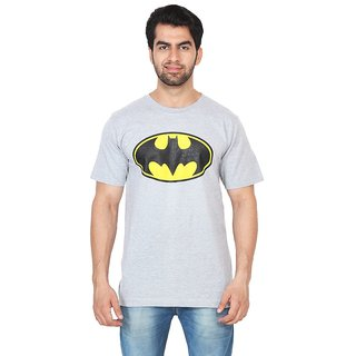 Trenders Round neck Grey Color T shirt with Batman print