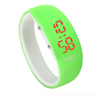 colorful Bangle Digital LED watch Green by InstaDeal