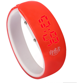 Brandedking colorful Bangle Digital LED watch Red