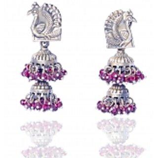 Antiquejewels 92.5 Sterling Silver Party Wear Women Antique jhumki Earring
