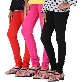 Legemat Multi color Leggings For Girls Pack of 3