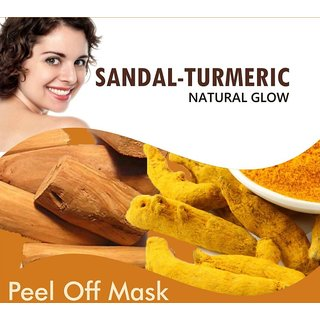 Sandal Turmeric Natural Glow PeelOff Mask