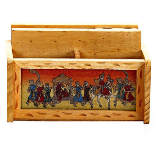 Contact Seller Aapno Rajasthan Wooden Pen and Paper holder with gemstone