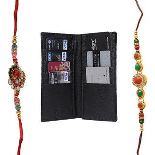 Mohit Fascinating Rakhi  Gift Set Combo of  2 Rakhis and Long Wallet