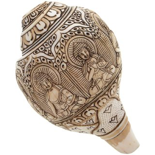 Kapasi Handicrafts Brass Sea Shell With God Carving