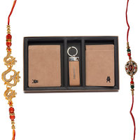 Mohit Special Rakhi  Gift Set Combo Of  2 Rakhis And Wa
