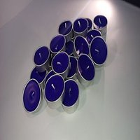 Set Of 50 Blue Tea Light Candles