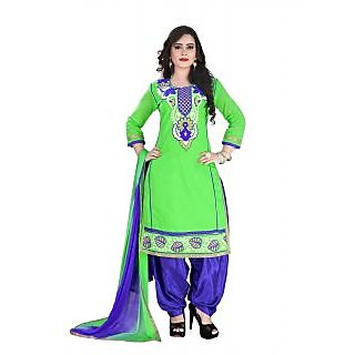 tulsi trendz new green embroidered patiala salwar suit