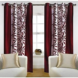 AAYISHA TRADING  Home Candy Eyelet Fancy Polyester 2 Piece Door Curtain