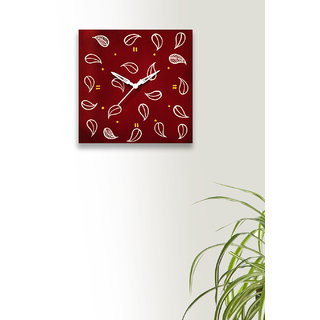 Craftbell Wood Sweet Cherry Colour Hand Painted Wall Clock For Home Decor  Gift
