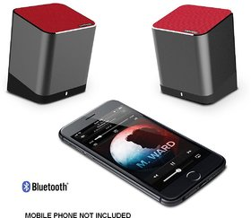 Trendwoo Twins Bluetooth Wireless Speaker 2.0 Stereo Sound with Built in Microphone (Black)