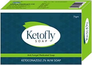 Ketofly antiseptic antifungal soap (Pack of 5) 75gm each