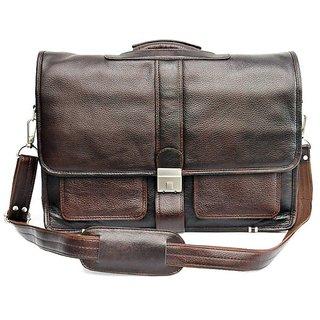 f91671d4bdf Buy Savera Leather HIDEMARK EXECUTIVE BROWN LEATHER LAPTOP BAG SL13 ...
