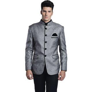 Mens Rayon Festive Silver Blazer