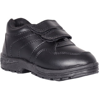 Velcro Black School Shoes