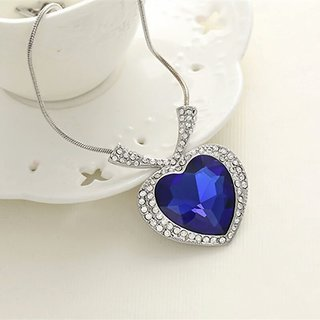 The Heart of the Ocean necklace blue crystal Titanic necklace jewelry