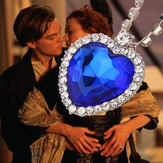 The Heart of the Ocean necklace crystal Titanic jewelry