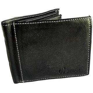 GoShamoy Black Leather Wallet With Multi Card Holder Option