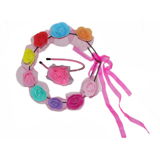 Multi Color Tiara with Hairband